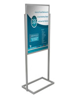 "Double Sided Silver 24"" x 36"" Metal Poster Stand"