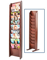 Cascading Pocket Magazine Rack