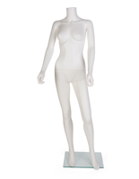 Headless Female Mannequin with Tempered Glass Base