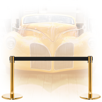 museum and car display stanchions
