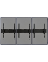 3-Monitor Wall Portrait TV Mount, 264lb Max Weight Capacity