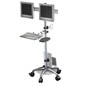 Portable Dual Monitor Sit Stand Workstation
