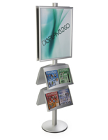 22x28 4 Pocket Poster Stand, 6' Pole