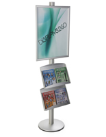22x28 Double Pocket Literature Sign Stand, Circular Base
