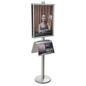 22x28 Snap Poster Stand with 2 Literature Shelves & Protective Lens