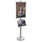 22x28 Poster Display Stand with Literature Holder for Lobbies