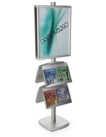 22x28 4 Pocket Poster Floor Stand with Square Base