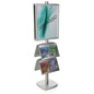 22x28 4 Pocket Poster Floor Stand, 6' Tall