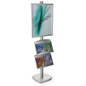 22x28 Metal Poster Stand with 2 Literature Shelves for Flyers