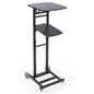 Adjustable Projector Stand Has Black Laminated MDF Shelves