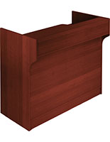 Wrap Counter: Cherry Melamine Finish