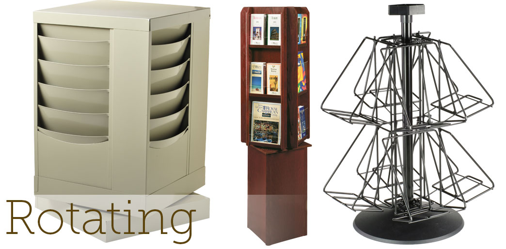 rotating magazine racks