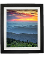 "24"" x 36"" Mountains Print w/ White Linen Liner"