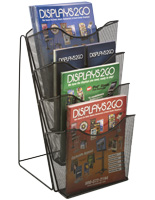 "Mesh Counter Magazine Rack, Fits 4"" x 9"" Brochures"