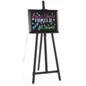 Marker writing neon boards with easel that folds closed