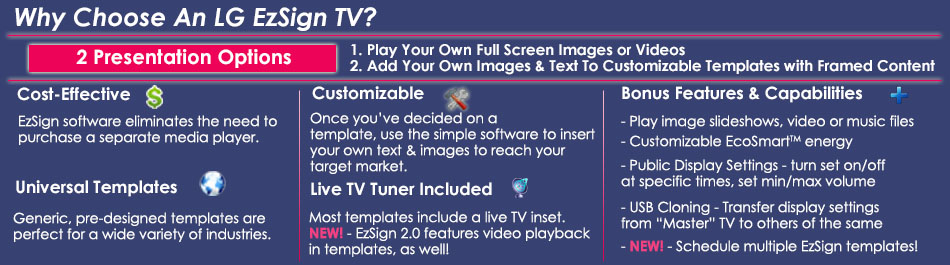 great features of EzSign TV