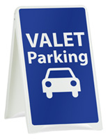 Valet Parking Sidewalk Sign, Weighs 10 lbs