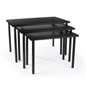 Black Nesting Tables with Melamine Finish