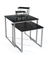 Black Nesting Table Set for Retail Shops