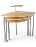 Maple Rotating Retail Display Table with 4 Tiers