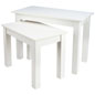 "Small Nesting Table Set with 45"" Wide Large Table"