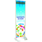 "20"" x 72"" Gray Permanent Banner Stand with Single Sided Graphic"