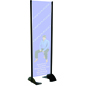 "20"" x 72"" Black Permanent Banner Stand without Graphic"