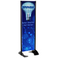 "24"" x 72"" Black Permanent Banner Stand with Double Sided Custom Graphic"
