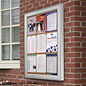 Bulletin display cases for posting notices outdoors!