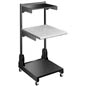 Space Saving Medical Laptop Cart