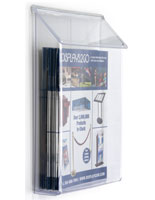 Outdoor literature display with lid
