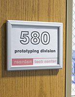 aluminum office door sign