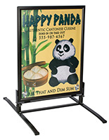 "A Wind Resistant Sidewalk Sign for (2) 30"" x 40"" Posters"