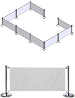 White Cafe Barrier System