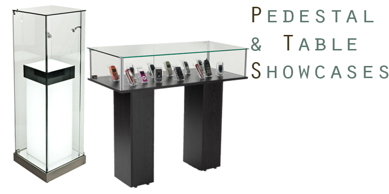 Floor-standing pedestals and tables
