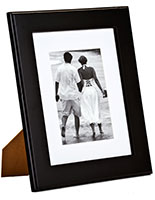 "5"" x 7"" Black Picture Frame with Mat Board"