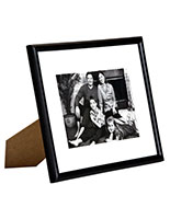 8 x 10 matted picture frame for table or wall white mat thin profile wood black