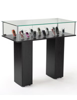 glass pedestal showcase