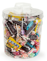 Plastic Candy Jar with Lid