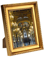 "Ornate Frame with a Gold Finish, 5"" x 7"" Size"