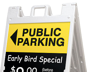 outdoor sidewalk signs with handles