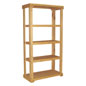 Wood Display Rack with Pine Frame and Shelves