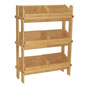 Wood Crate Display with 3-Tiered Design