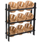 Basket Display Stand with Black Frame