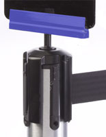 Colorific Blue Post Top Bracket for Tensabarrier® Posts
