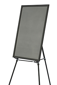 easel shown with empty poster frame