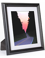 Black Picture Frame with Grooved Profile