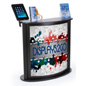Custom Trade Show Counter with iPad Stand, Floor Standing