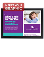 Black 13 x 19 Snap Frame for Promoting