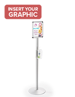 Hand Sanitizer Dispenser Stand with Media